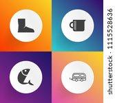 modern  simple vector icon set... | Shutterstock .eps vector #1115528636