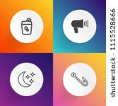 modern  simple vector icon set... | Shutterstock .eps vector #1115528666