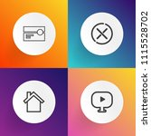 modern  simple vector icon set... | Shutterstock .eps vector #1115528702