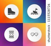 modern  simple vector icon set... | Shutterstock .eps vector #1115528726