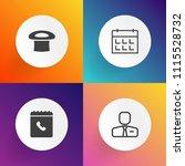 modern  simple vector icon set... | Shutterstock .eps vector #1115528732