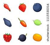 sucrose icons set. cartoon set...   Shutterstock .eps vector #1115530316