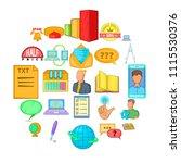 furtherance icons set. cartoon...   Shutterstock .eps vector #1115530376