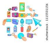 cellphone icons set. cartoon...   Shutterstock .eps vector #1115531156