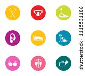 handicapped icons set. flat set ... | Shutterstock .eps vector #1115531186