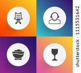 modern  simple vector icon set... | Shutterstock .eps vector #1115531642