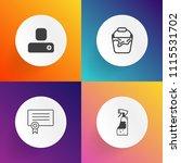 modern  simple vector icon set... | Shutterstock .eps vector #1115531702