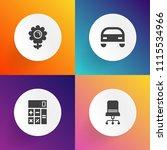 modern  simple vector icon set... | Shutterstock .eps vector #1115534966
