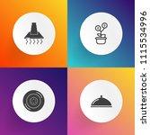 modern  simple vector icon set... | Shutterstock .eps vector #1115534996
