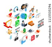 projector icons set. isometric...   Shutterstock .eps vector #1115535296