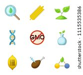 peasant farm icons set. cartoon ...   Shutterstock .eps vector #1115535386