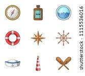 seafarer icons set. cartoon set ...   Shutterstock .eps vector #1115536016
