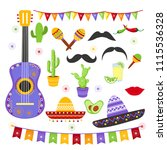 vector illustration set of... | Shutterstock .eps vector #1115536328