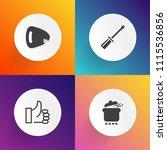 modern  simple vector icon set... | Shutterstock .eps vector #1115536856