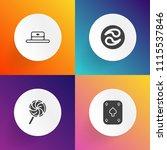 modern  simple vector icon set... | Shutterstock .eps vector #1115537846