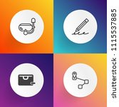modern  simple vector icon set... | Shutterstock .eps vector #1115537885