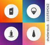 modern  simple vector icon set... | Shutterstock .eps vector #1115539262