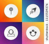 modern  simple vector icon set... | Shutterstock .eps vector #1115539376