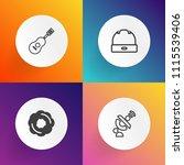 modern  simple vector icon set... | Shutterstock .eps vector #1115539406