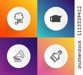 modern  simple vector icon set... | Shutterstock .eps vector #1115539412
