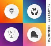 modern  simple vector icon set... | Shutterstock .eps vector #1115539442