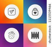 modern  simple vector icon set... | Shutterstock .eps vector #1115539466
