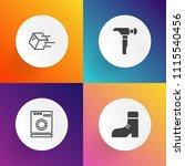modern  simple vector icon set... | Shutterstock .eps vector #1115540456
