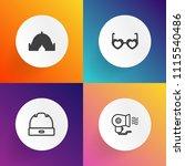 modern  simple vector icon set... | Shutterstock .eps vector #1115540486