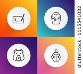 modern  simple vector icon set... | Shutterstock .eps vector #1115541032