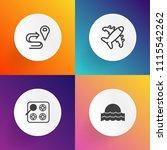 modern  simple vector icon set... | Shutterstock .eps vector #1115542262