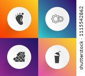 modern  simple vector icon set... | Shutterstock .eps vector #1115542862