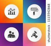 modern  simple vector icon set... | Shutterstock .eps vector #1115542868