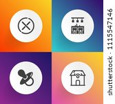 modern  simple vector icon set...   Shutterstock .eps vector #1115547146