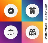 modern  simple vector icon set... | Shutterstock .eps vector #1115547305