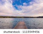 beautiful sunny summer evening... | Shutterstock . vector #1115549456