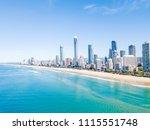 surfers paradise beach from an... | Shutterstock . vector #1115551748