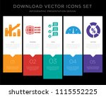 5 vector icons such as bar... | Shutterstock .eps vector #1115552225