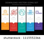 5 vector icons such as map  map ... | Shutterstock .eps vector #1115552366