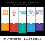 5 vector icons such as on ... | Shutterstock .eps vector #1115553536