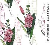 blossom floral seamless pattern....   Shutterstock .eps vector #1115554238