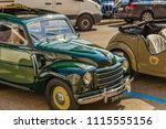 Small photo of LUGO (RA), ITALY - JUNE 17, 2018: FIAT 500 car shows in historic cars rally of FIAT 500 TOPOLINO