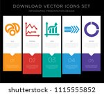 5 vector icons such as venn... | Shutterstock .eps vector #1115555852