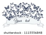 vector greeting card template...   Shutterstock .eps vector #1115556848