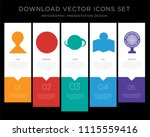5 vector icons such as location ... | Shutterstock .eps vector #1115559416