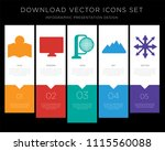 5 vector icons such as map  gps ...   Shutterstock .eps vector #1115560088