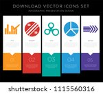5 vector icons such as bar... | Shutterstock .eps vector #1115560316
