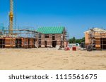 here are many new homes  which... | Shutterstock . vector #1115561675