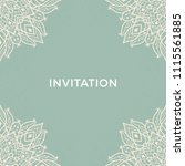 save the date invitation card... | Shutterstock .eps vector #1115561885