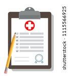 clipboard  medical concept  | Shutterstock .eps vector #1115566925