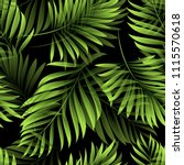 palm. pattern of fresh green... | Shutterstock .eps vector #1115570618